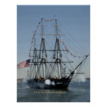 USS Constitution Firing Cannons Poster