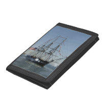 USS Constitution Firing Cannons Trifold Wallet