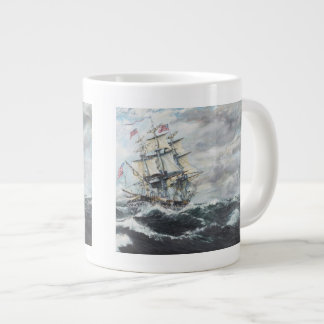 USS Constitution heads for HM Frigate Guerriere Giant Coffee Mug