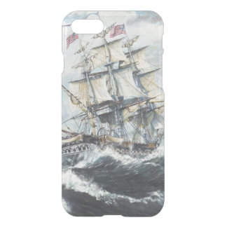 USS Constitution heads for HM Frigate Guerriere iPhone 8/7 Case