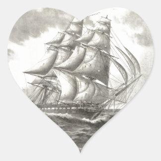USS Constitution Heart Sticker