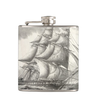 USS Constitution Hip Flask