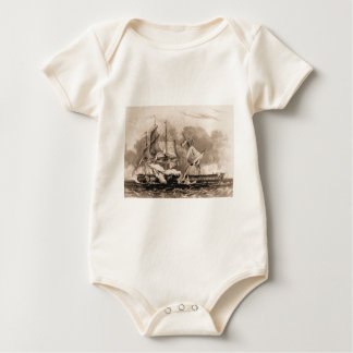 USS Constitution in action Baby Bodysuit