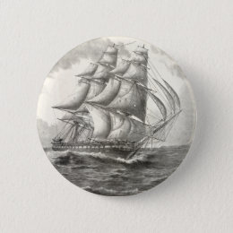 USS Constitution Pinback Button