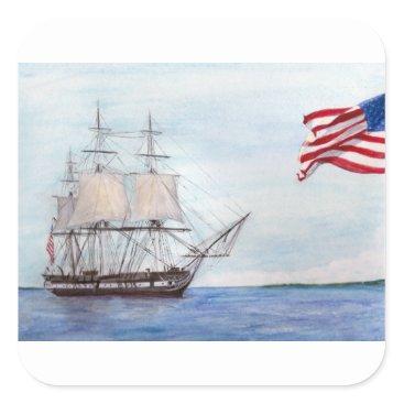 USS Constitution Square Sticker