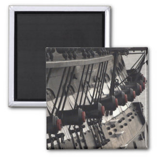 USS Constitution Starboard Cannons 2 Inch Square Magnet
