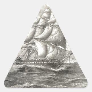 USS Constitution Triangle Sticker