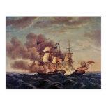 USS Constitution vs. HMS Guerriere Postcard