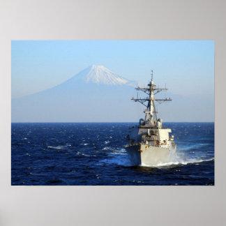 USS Curtis Wilbur (DDG 54) Posters