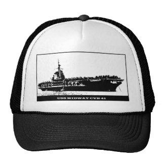USS CVB-41 INTERMEDIARIO, barco de la Armada Gorros Bordados
