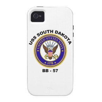 USS Dakota del Sur (BB-57) Case-Mate iPhone 4 Funda