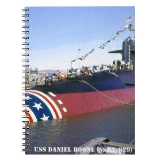 USS DANIEL BOONE NOTEBOOK