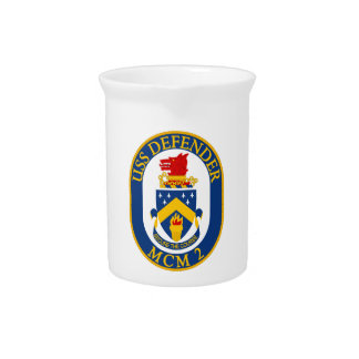 USS Defender - MCM 2 - Secure The Course Drink Pitcher
