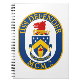 USS Defender - MCM 2 - Secure The Course Spiral Notebook