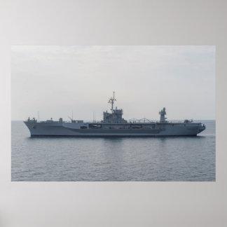 USS el Monte Whitney (LCC 20) Póster