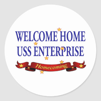 USS Enterprise casera agradable Pegatina Redonda