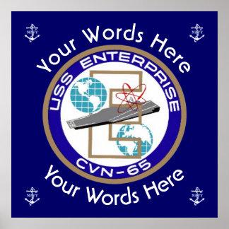 USS Enterprise Custom Poster