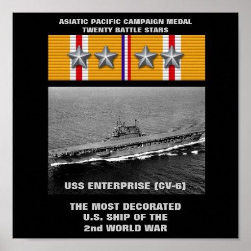 USS ENTERPRISE (CV-6) POSTER