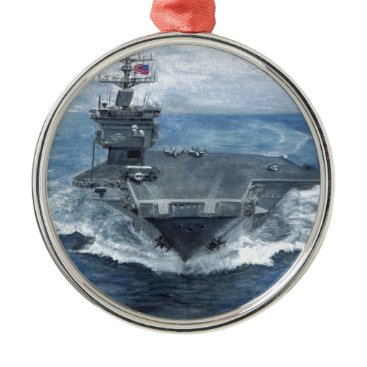 USS ENTERPRISE METAL ORNAMENT