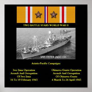 USS ESTES (AGC-12) / (LCC-12) PRINT