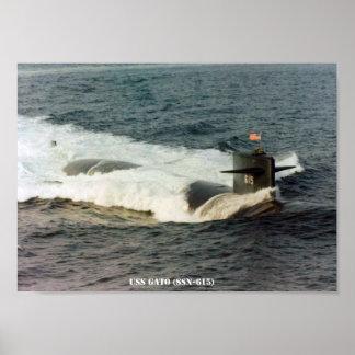 USS GATO POSTER