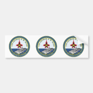 USS George H W Bush CVN-77 Bumper Sticker