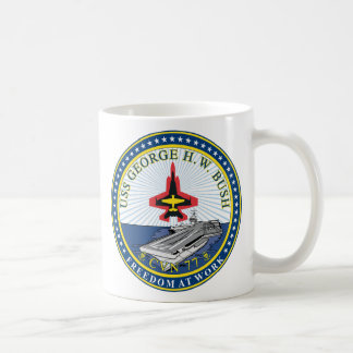 USS George H W Bush CVN-77 Coffee Mug