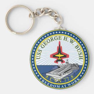 USS George H W Bush CVN-77 Keychain