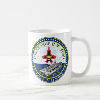 USS George H W Bush CVN-77 Taza Básica Blanca