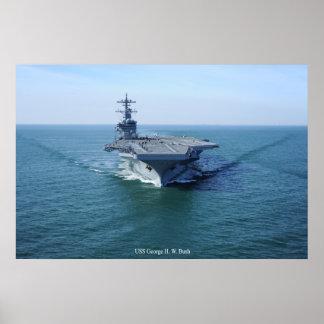 USS George H. W. bush Poster
