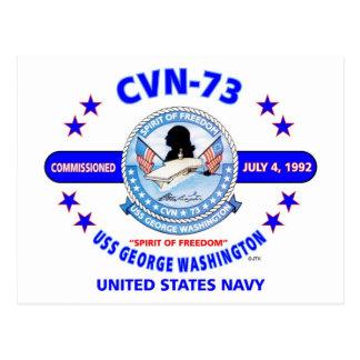 USS GEORGE WASHINGTON CVN-73  NAVY CARRIER POSTCARD