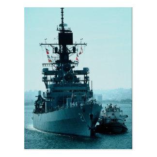 "USS Gridley"" coast guard cruiser prepares to dock Postcard"