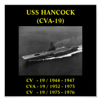 USS HANCOCK (CV-19) POSTER