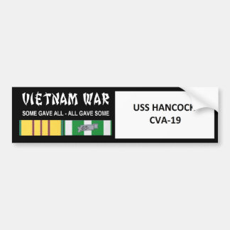 USS HANCOCK VIETNAM WAR VETERAN BUMPER STICKERS