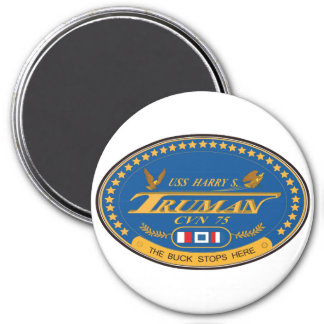 USS Harry S Truman 3 Inch Round Magnet