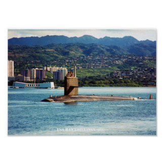 USS HAWKBILL POSTER