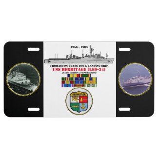 USS HERMITAGE (LSD-34) LICENSE PLATE