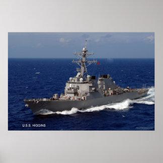 USS Higgins DDG 76 Poster