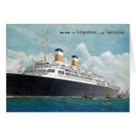 USS Independence & SS Constitution Vintage Card