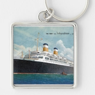 USS Independence & SS Constitution Vintage Keychain