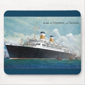 USS Independence & SS Constitution Vintage Mouse Pad