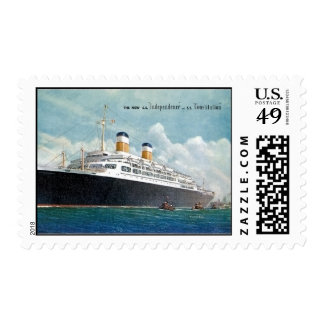 USS Independence & SS Constitution Vintage Postage Stamps