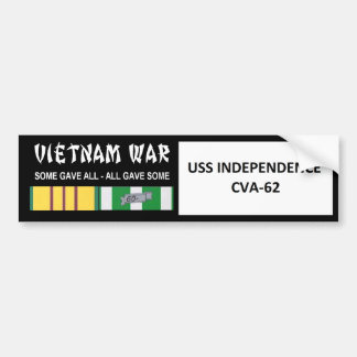 USS INDEPENDENCE VIETNAM WAR VETERAN BUMPER STICKERS