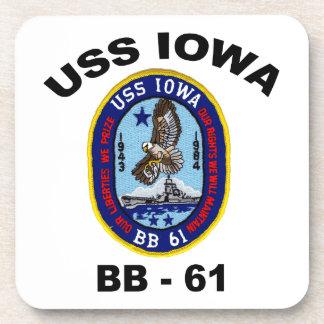 USS Iowa BB-61 Coaster