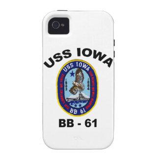 USS Iowa BB-61 Vibe iPhone 4 Carcasa