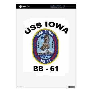 USS Iowa BB-61 iPad 2 Skin