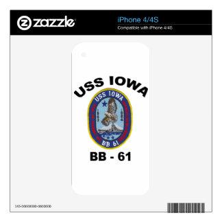USS Iowa BB-61 iPhone 4S Decals