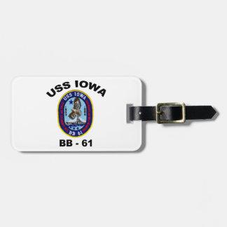 USS Iowa BB-61 Luggage Tag
