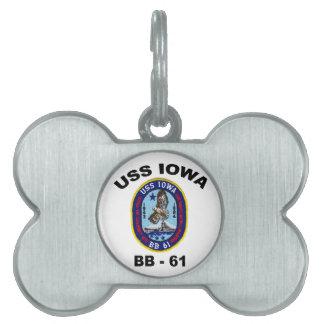 USS Iowa BB-61 Placas Mascota