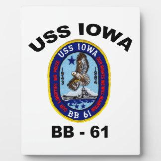 USS Iowa BB-61 Plaque